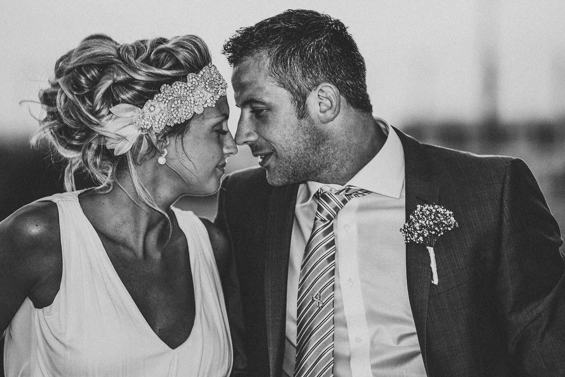 Bride and groom in Algarve Portugal