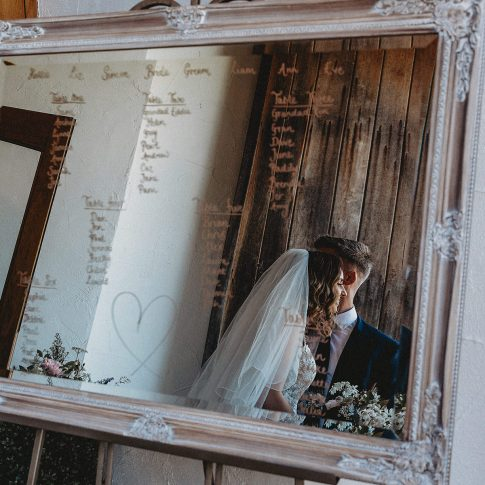 Mirror table plan Somerset wedding photographer