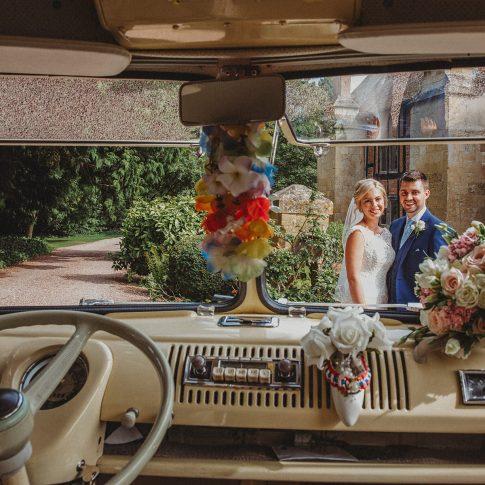 VW Wedding camper van at Birtsmorton Court