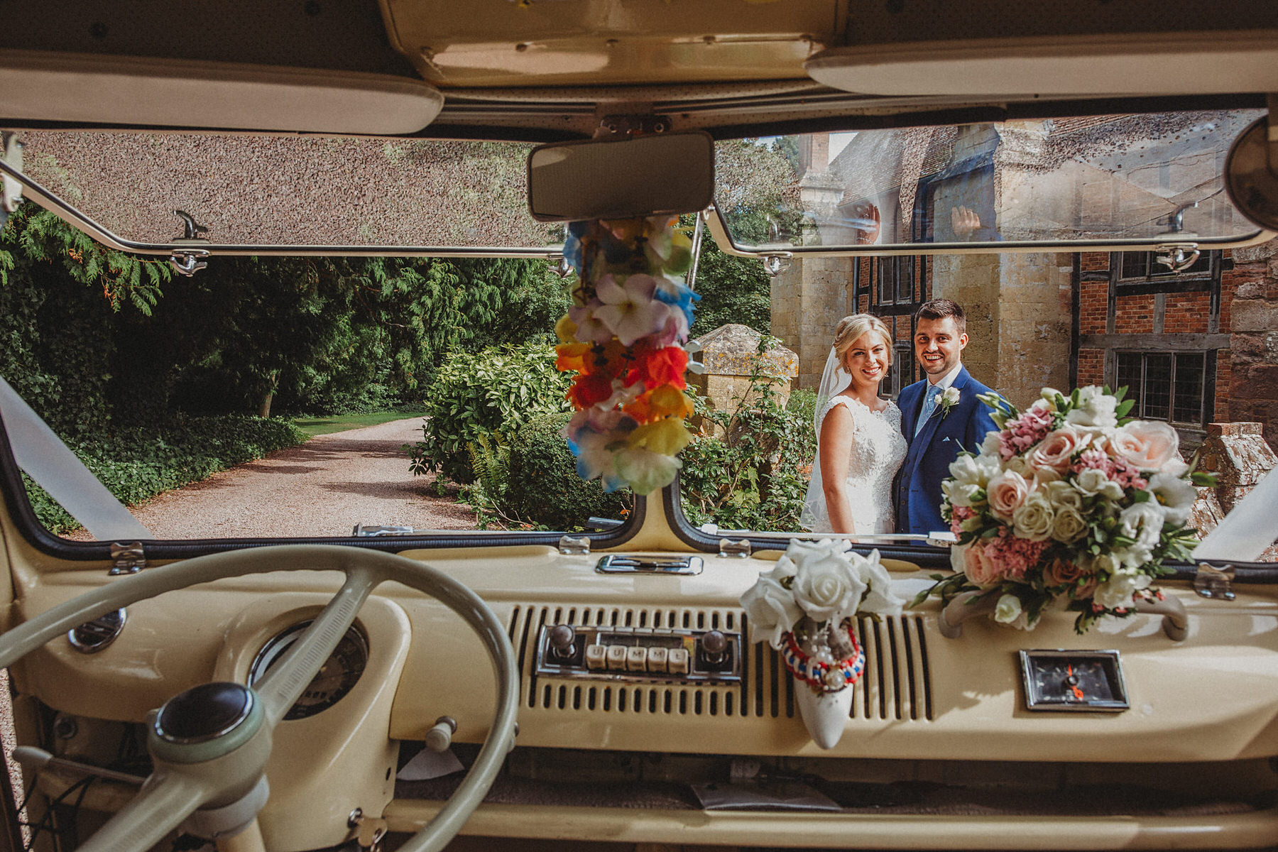 VW Wedding camper van at Birtsmorton Court